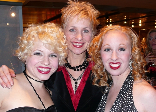 l-r: Sarah Marie Hicks, Kelli Barclay and Missy Morrison at 'White Christmas' Toronto Opening Night
