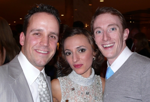 l-r: Jay T. Shramek, Lisa Messina and Brent McBeth at 'White Christmas' Toronto Opening Night