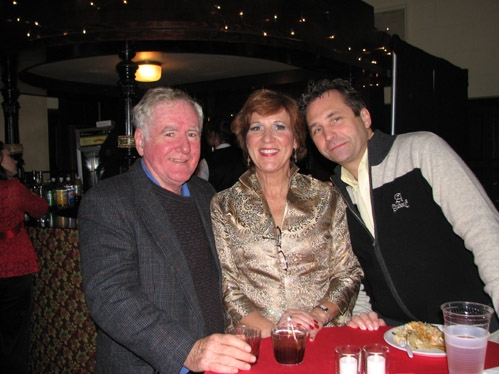 Susan Mansur (Martha Watson) with husband Mike and Peter Wolf (Production Stage Manager)