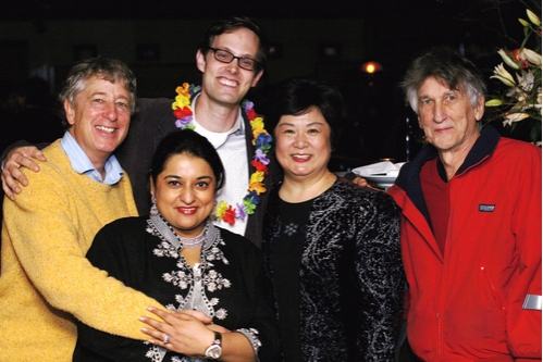 Bill Buell, Geeta Citygirl, Davis McCallum, Ruth Zhang, and Charles Mee at 'Queens Boulevard' Opening Night Party