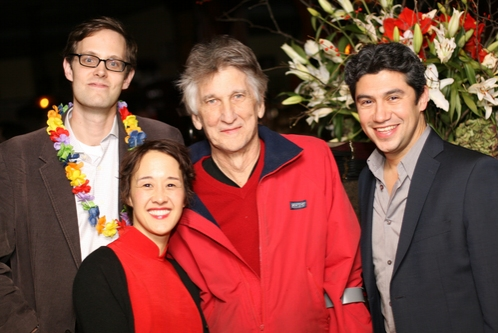 Davis McCallum, Michi Barall, Charles Mee and Louis Castro at 'Queens Boulevard' Opening Night Party