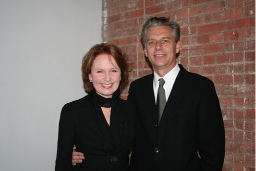 Kate Burton with gracious, Husband Michael Ritchie