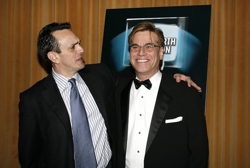 Hank Azaria and Aaron Sorkin at 'The Farnsworth Invention' Opening & Party