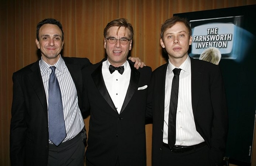 Hank Azaria, Aaron Sorkin and Jimmi Simpson at 'The Farnsworth Invention' Opening & Party
