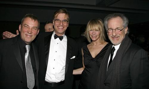 Des McAnuff, Aaron Sorkin, Kate Capshaw and Steven Spielberg