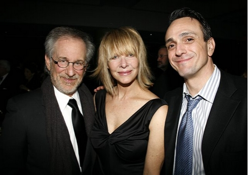 Steven Spielberg, Kate Capshaw and Hank Azaria