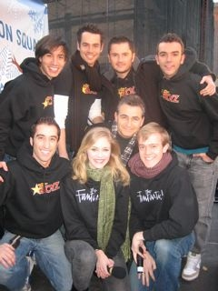 Top: Altar Boyz Jay Garcia, Chad Doreck, Jim Daly, Joey Khoury. Bottom: Ryan Strand (Altar Boyz), Liz Holtan (The Fantasticks), Paul Kreppel (My Mother's Italian...) and Douglas Ullman (The Fantasticks