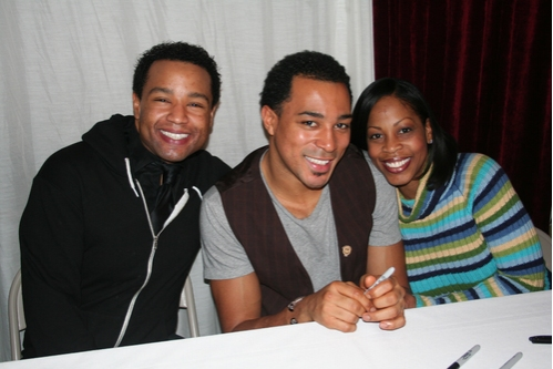 Demond Nason, Charl Brown and Tanesha Gary at 'Walmartopia' Celebrates CD & 100th Show