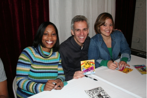 Tenesha Gary, Neal Mayer and Jessica Cope at 'Walmartopia' Celebrates CD & 100th Show