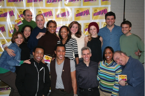 Musical Director August Eriksmoen (far right) with the cast of Walmartopia