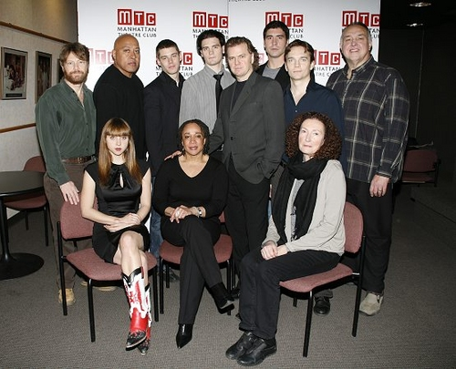 Back Row (L-R) Joseph Adams, Keith Randolph Smith, Brian Smith, Daniel Damon Joyce, Chad Hoeppner, Matthew J. Williamson, Lyle Kanouse Front (L-R) Zoe Kazan, S. Epatha Merkerson, Kevin Anderson and