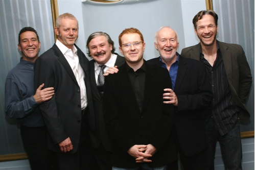 Ciaran Hinds, David Morse, Conleth Hill, Conor McPherson, Jim Norton and Sean Mahon at 'The Seafarer' Opening Night