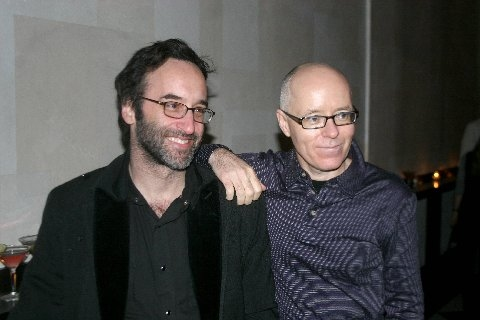 Don McKellar (book) and Greg Morrison (music & lyrics) at 'Drowsy Chaperone' Toasts to Tottendales
