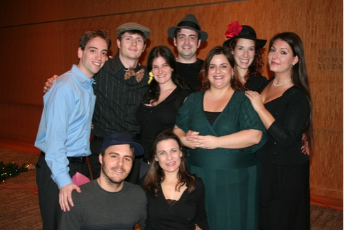 Accompianist Daniel Fischer (far left), Alexendra Hastings and Diana Basmajian (far right) along with cast members; Robert Patrick Allen, Mark Cajiagao, Lawrence George, Betsy Sanders, Jane Tarica and Danielle Treuberg