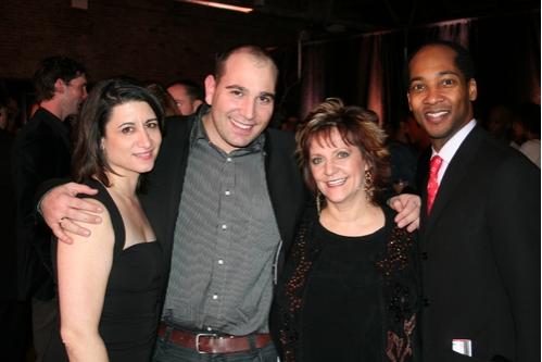 Denise Roberts Hurlin, David Benaym (MOVMNT Magazine), Denise Wall and Christopher Davis