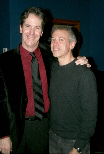 Christopher Denny and composer Scott Frankel at 'Simply Barbra' at the Metropolitan Room