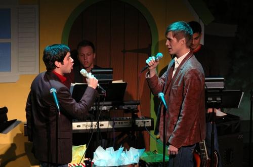Daniel Torres and Matthew Tweardy at Broadway Sings for Toys