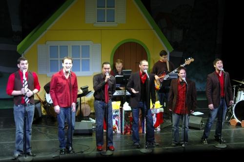 The Broadway Boys (l-r): Zak Resnick, Steve Morgan, Jesse Nager, Josh Strickland, Ryan Binder and Daniel Torres