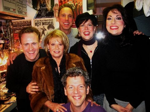 l-r: Jared Bradshaw, Elaine Paige, David Caldwell, Michael West, Valerie Fagan (performer) and Gina Kreiezmar (Performer/Understudy)