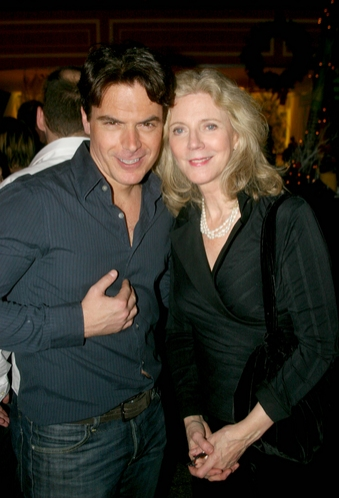 Troy Britton Johnson and Blythe Danner Photo