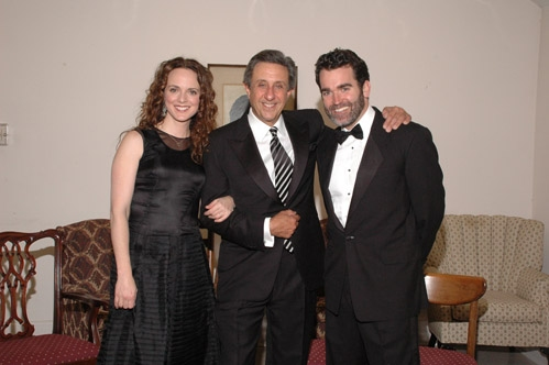 Melissa Errico, NBC 4 Sportscaster, Len Berman and Brian D'Arcy James