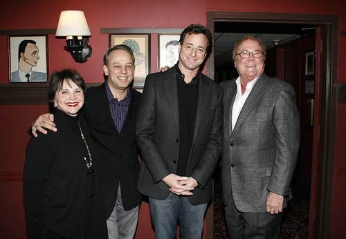 Cindy Williams, Roy Miller, Bob Saget and Bob Boyett  at Bob Saget Receives Sardi's Portrait