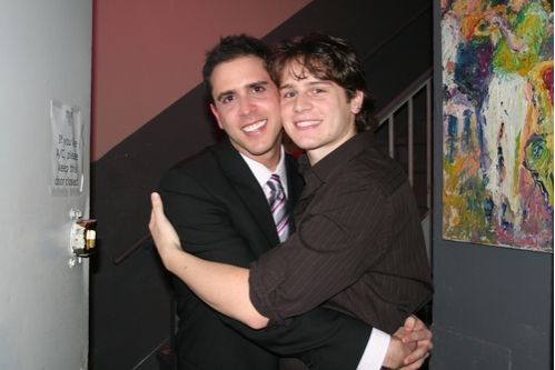 Scott Alan and Jonathan Groff