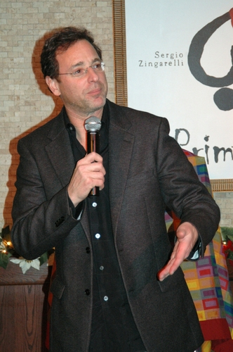 Photo Coverage: Bob Saget Receives Tony Di Napoli's Portrait