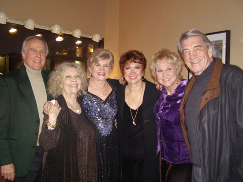 l-r: Original Company cast members John Cunningham, Merles Louise, Teri Ralston, Donna McKechnie, Pamela Myers and Steve Elmore