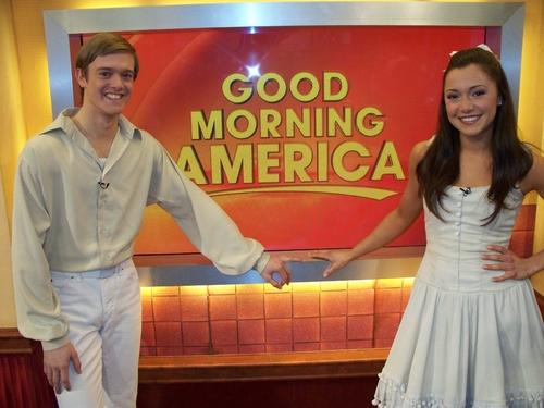 "Stars of The Fantasticks: Douglas Ullman, Jr. (Matt) and Julie Craig (Luisa) at the ABC ""Good Morning America"" studio"