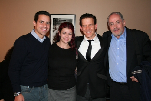 Dave Karger (Entertainment Weekly), Erin Grush (Agent), Christian Hoff and Tim Stone�¿�(Agent) at Christian Hoff at the Metropolitan Room