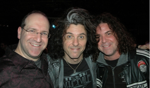 Neil Berg, Alex Skolnik (lead guitar) and James Lewis (Trans-Siberian Orchestra)
