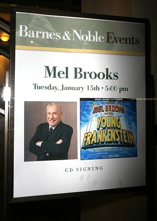 Mel Brooks appeared at Barnes & Noble for a Young Frankenstein CD singing on Tuesday, January 15, 2008