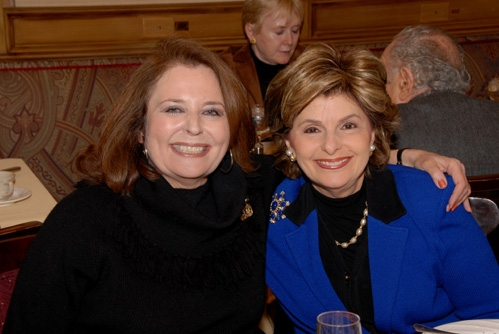 Randie Levine-Miller and Gloria Allred  at Lucie Arnaz at The Friars Club