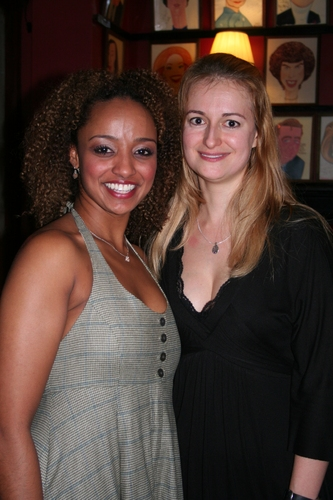 Asmeret Ghebremichael and Nell Benjamin at Michael Rupert Celebrates 40 Years on Broadway!