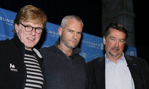 Robert Redford, Martin McDonagh and Geoffry Gilmore Photo