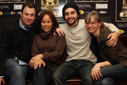 Brooks Ashmanskas, Rosie Perez, Ramon Rodriguez and Producer Tina Fallon