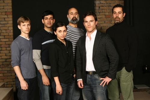 l-r: Jeremy Beck, Sevan Greene, Aadya Bedi, Ramsey Faragallah, Mike Doyle and Waleed F. Zuaiter
