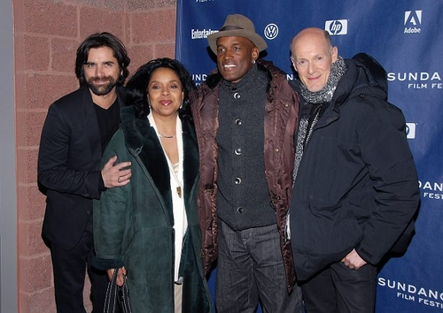 John Stamos, Phylicia Rashad, Kenny Leon and Neil Meron
