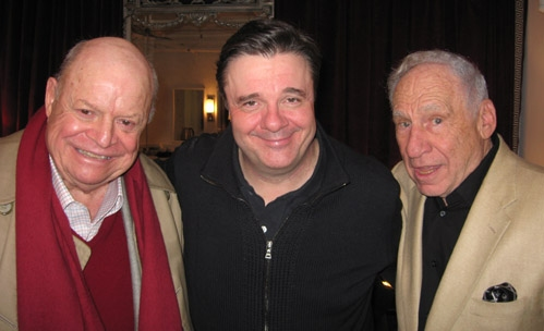 Don Rickles, Nathan Lane and Mel Brooks