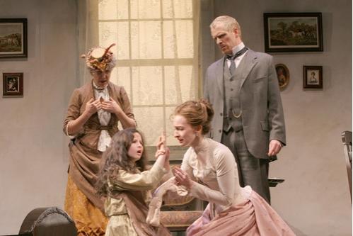 Beth Dixon (Aunt Ev), Meredith Lipson, Emily Dorsch (Kate Keller) and John Hickok (Captain Keller)