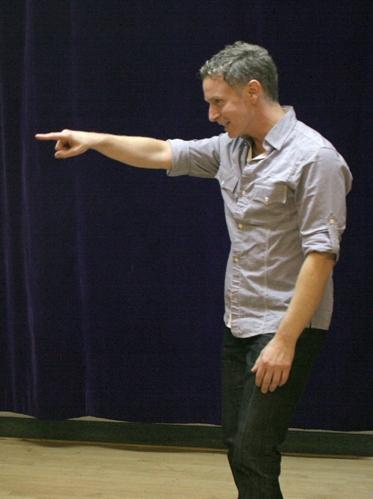Joe Langworth coaches a BAA student