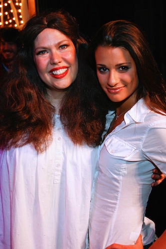 Valerie Fagan and Lea Michele