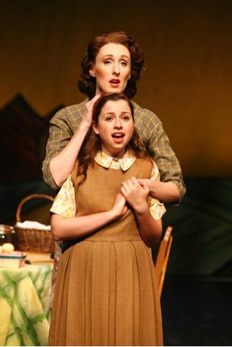 (back) Emily Harvey, (front) Alyssa May Gold
