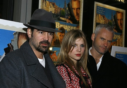Colin Farrell, Clémence Poésy and Martin McDonagh Photo