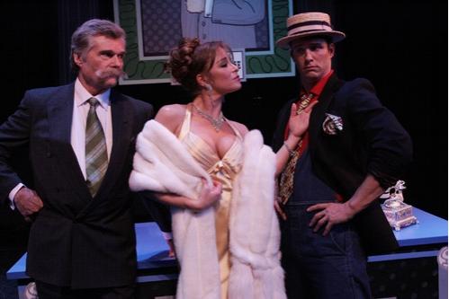 l-r: Fred Willard, Jamie Luner, Eric Martsolf Photo