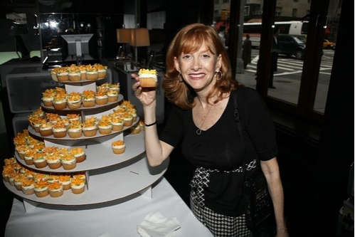 Jane Waldman and the new A Catered Affair cupcake