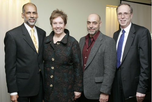 l-r: Andre de Quadros (Boston University's School of Music Director), Lynne Allen (BU's School of Visual Arts Director), Jim Petosa (BU's School of Theater Director and InCite Arts Festival Producer), and Walt Meissner (Dean of BU's College of Fine Arts p