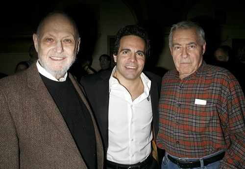 Charles Strouse, Mario Cantone and Lee Adams Photo