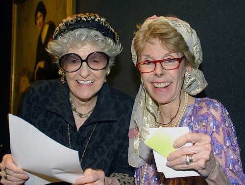 Elaine Stritch (left) and benefit chair Betsy Von Furstenberg